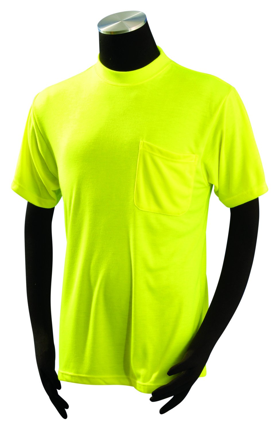 OccuNomix LUX-SSTP0-Y10X Classic Short Sleeve Wicking T-Shirt with Pocket, Non-ANSI, 10X-Large, Yellow (High Visibility)