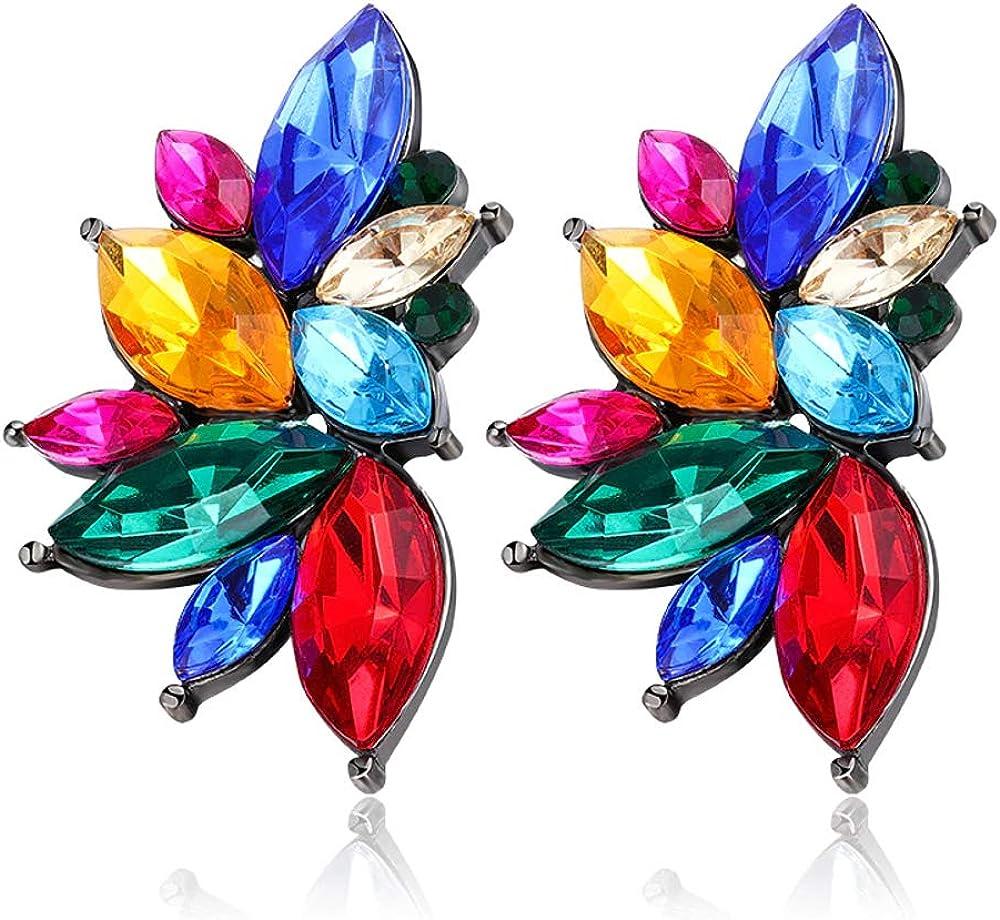 EXINOX Pendientes Cristales Preciosos | Mujer | Elegantes Piedras Brillantes