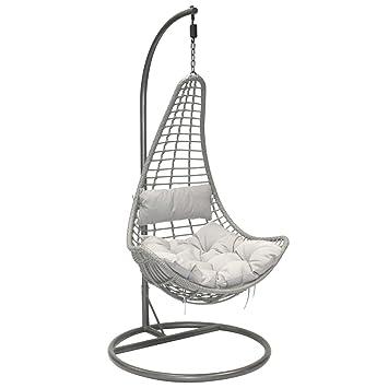 Bentley Garden   Hängesessel Mit Polster   Garten/Balkon   Polyrattan   Grau