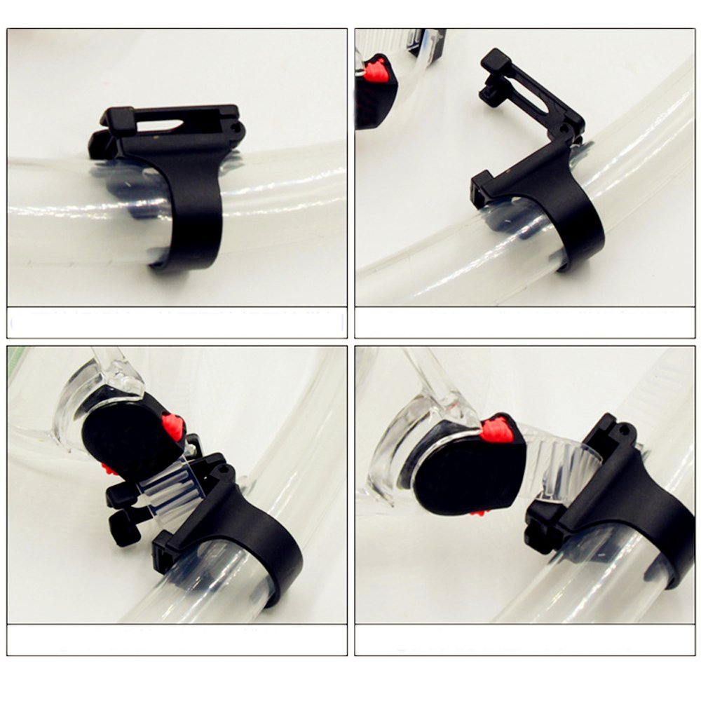 COOLOOdirect 2 Pieces Scuba Dive Universal Plastic Clip Snorkel Keeper Retainer Replacement Snorkeling Equipment Black