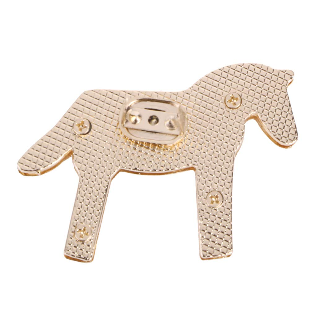JENOR Horse Shape Metal Clasp Turn Lock Twist Locks For DIY Handbag Bag Purse Hardware