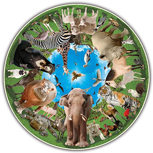 Round Table Puzzle - Animal Arena (500 Piece) by A Broader View