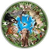 A Broader View Round Table Animal Arena Jigsaw Puzzle