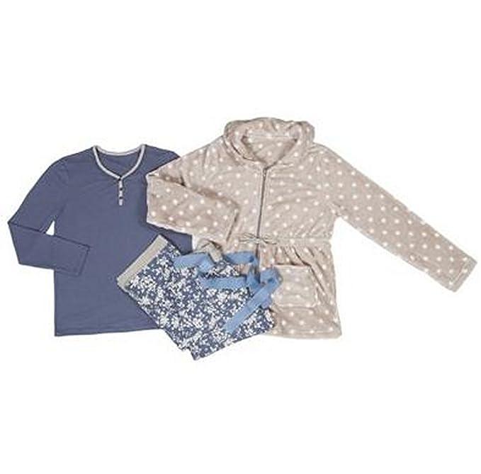 Promise,Pijama 3 piezas mujer, talla M