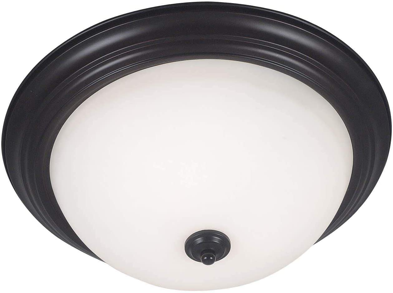 Kenroy Home 80369ORB Triomphe Flush Mount Fixture, 3 Light, Oil Rubbed Bronze