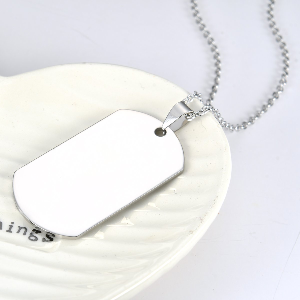 Stainless Steel Dog Tag Letters ''To my son....love mom'' Pendant Necklace,Inspirational Gifts For Son Jewelry by danjie (Image #5)