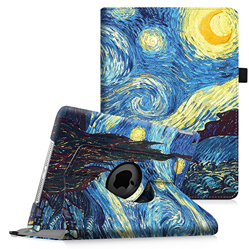 Fintie iPad mini 1/2/3 Case - 360 Degree Rotating Stand Case Cover with Auto Sleep / Wake Feature for Apple iPad mini 1 / iPad mini 2 / iPad mini 3, Starry Night
