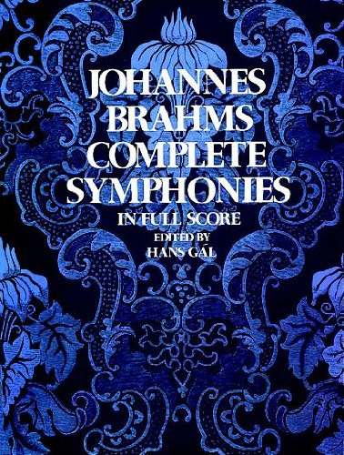 Johannes Brahms Complete Symphonies in Full Score (Vienna...