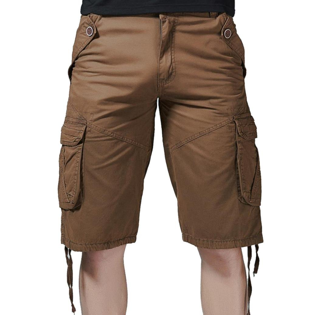 Clearance! Fashion Mens Casual Pocket Beach Work Casual Short Trouser Shorts,PASATO Classic Casual Pants(Coffee, 30) by PASATO