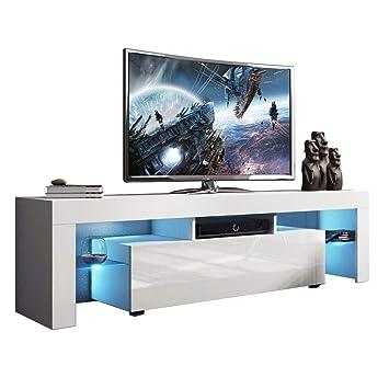 Amazoncom Holarose Modern Led Tv Cabinet Nordic Style Tv Stand