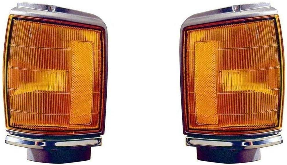 1987 1988 Compatible With Toytota Pick-Up 2Wd Park//Corner Lamp Light W//O Chrome Left /& Right Set