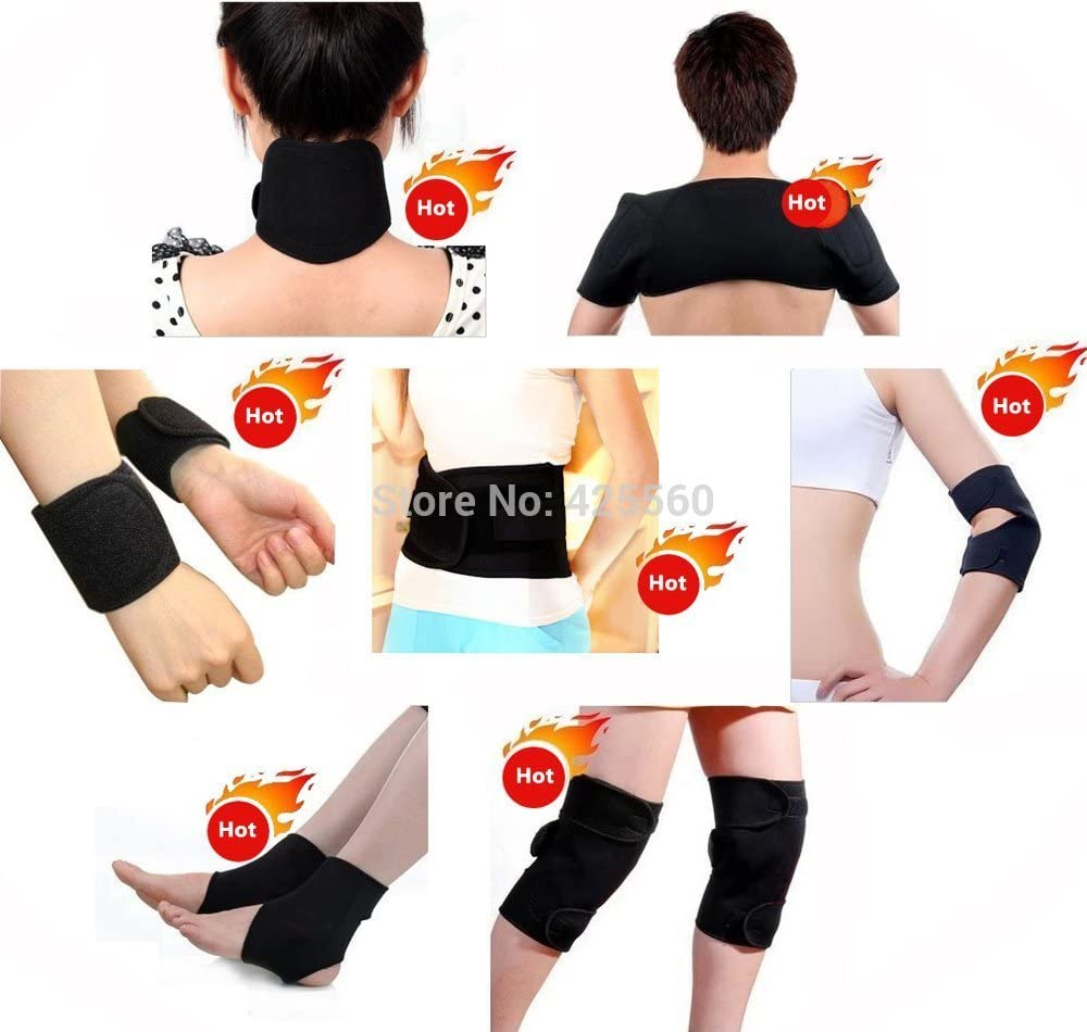 Healsmile® 11 Pieces/set Tourmaline Warm Brace Belt Self Heating Massage Belt for Neck Shoulder Support Brace Elbow Waist Wrist Protect Tourmaline Knee Foot Ankle Band