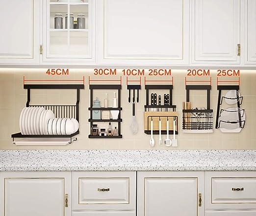 Estante de cocina multifuncional para colgar en la pared con ...