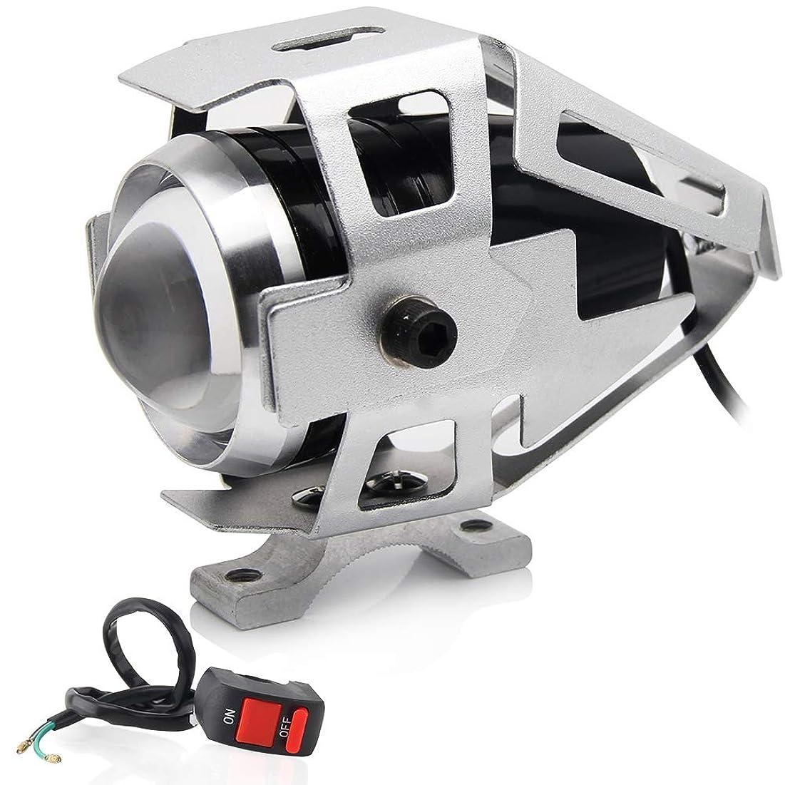 転倒ベテランダメージZ1-1BL 爆光 LEDライト ステー付 青 片側交互ストロボ発光 リモコンジョグ ジョグZ ジョグZR/エボリューション BW'S125 BWS シグナスX/SR マジェスティ125/FI マジェスティ250/C 汎用 外装 ヘッドライト デイライト フォグランプ テールランプ バックフォグ 色々なLEDアクセサリーに