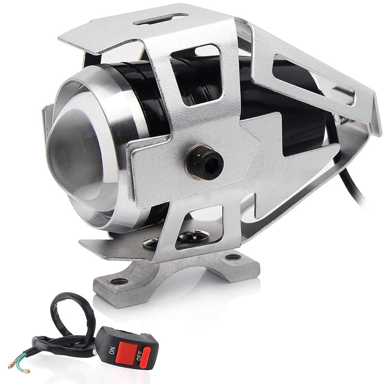 警官付与ささいなZ1-1BL 爆光 LEDライト ステー付 青 片側交互ストロボ発光 リモコンジョグ ジョグZ ジョグZR/エボリューション BW'S125 BWS シグナスX/SR マジェスティ125/FI マジェスティ250/C 汎用 外装 ヘッドライト デイライト フォグランプ テールランプ バックフォグ 色々なLEDアクセサリーに