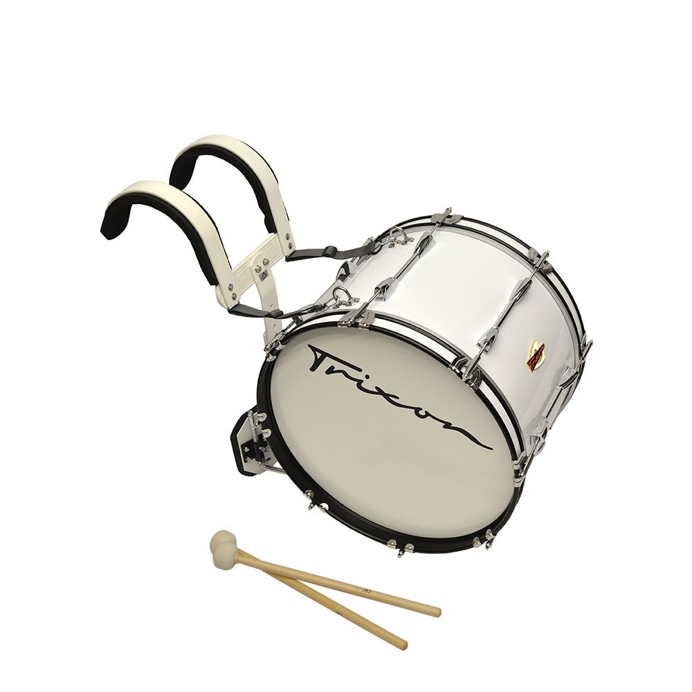 Trixon Field Series Marching Bass Drum - 26'' x 12'' - White