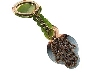 Bronce mano de Fátima llavero, colgante, llavero, diseño de ...