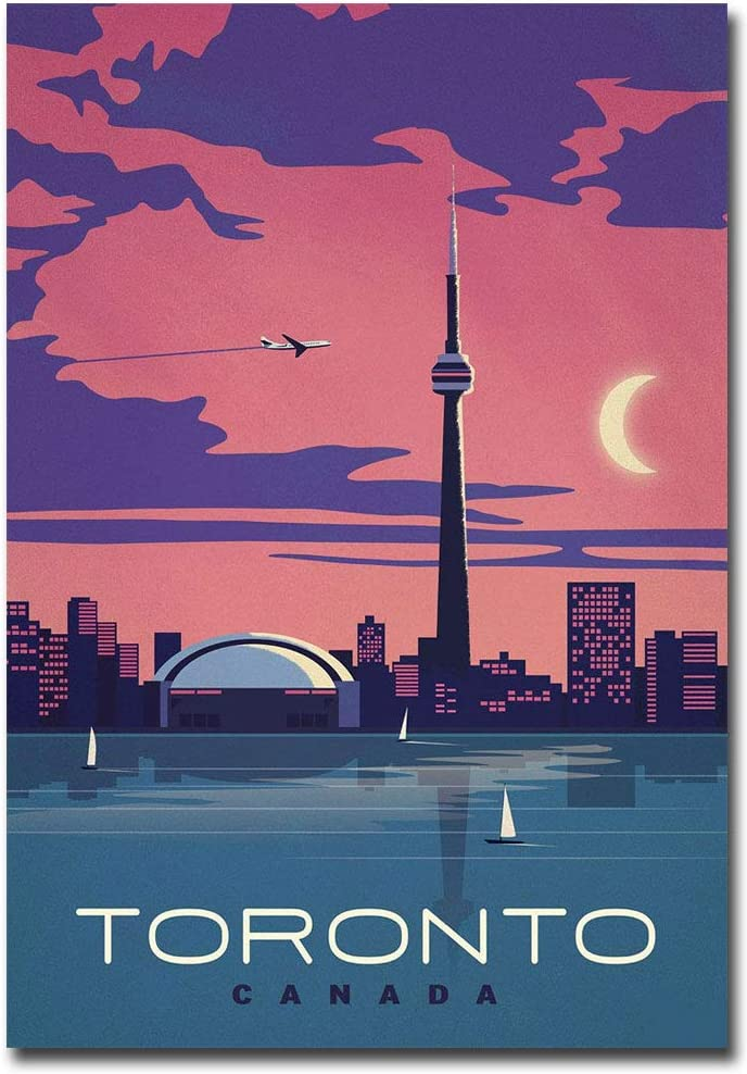 "Toronto Canada Vintage Travel Art Refrigerator Magnet Size 2.5"" x 3.5"""