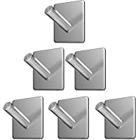 Wall Hooks Heavy Duty Adhesive Hooks Stainless Steel Hangers Nail Free Utility Hooks, Stick On Hook For Hanging Towel…