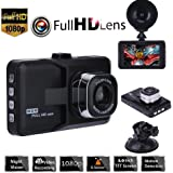 "Auveach 3.0"" LCD 1080P HD Car DVR Dash Camera Video Recorder G-sensor 170° Night Vision"
