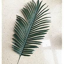 10pcs Fake Green Leaves 70cm Simulated Leaf Plants Fake Palm Tree Leaf Artificial Greenery (green)
