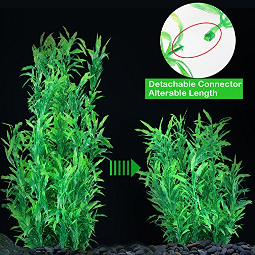 JoyJon Artificial Aquarium Plants Plastic Fish Tank Aquascaping Decorations Water Aquatic Plants (Green) by JoyJon