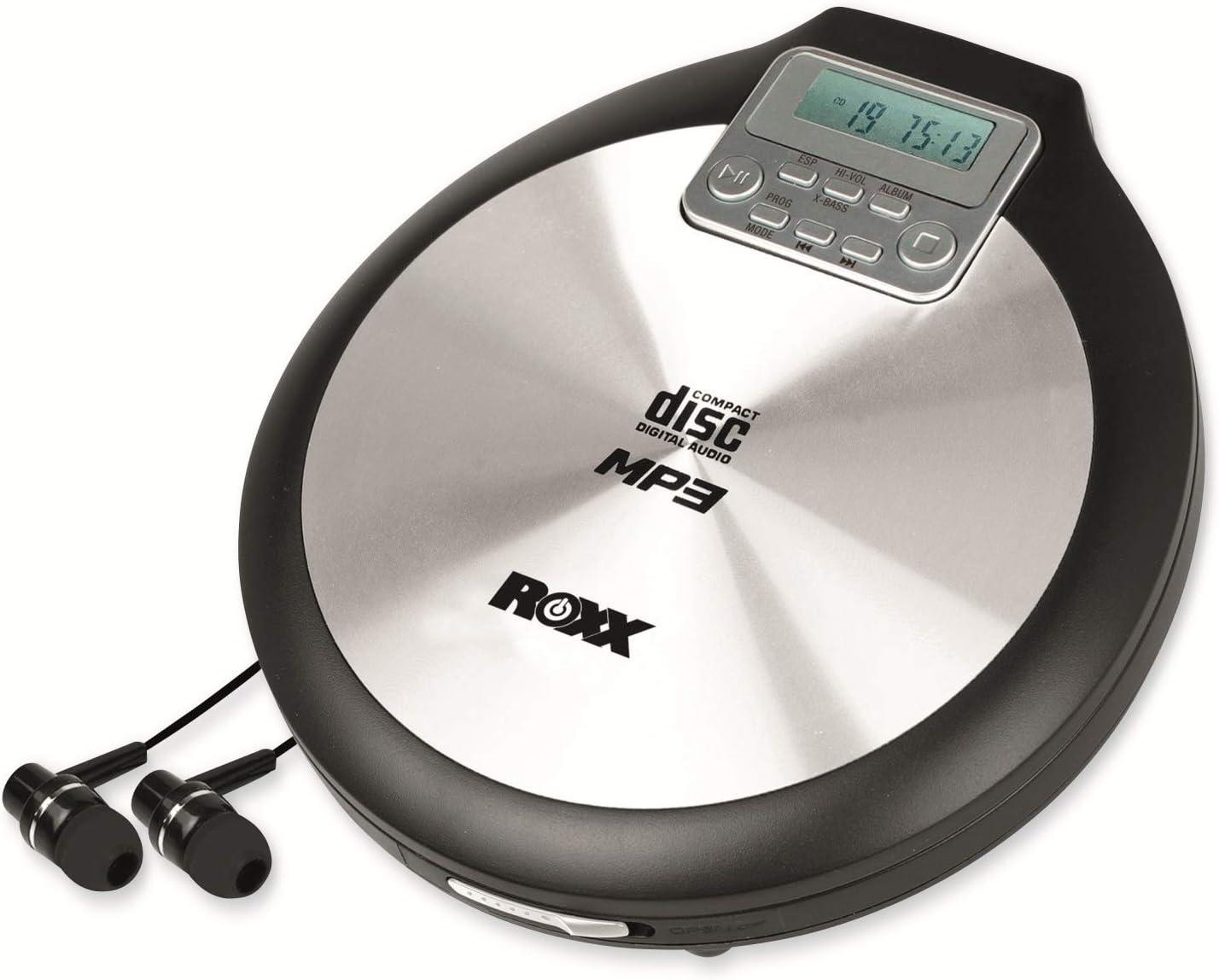Roxx Discman Tragbarer Mp3 Cd Player Mit Anti Schock Elektronik