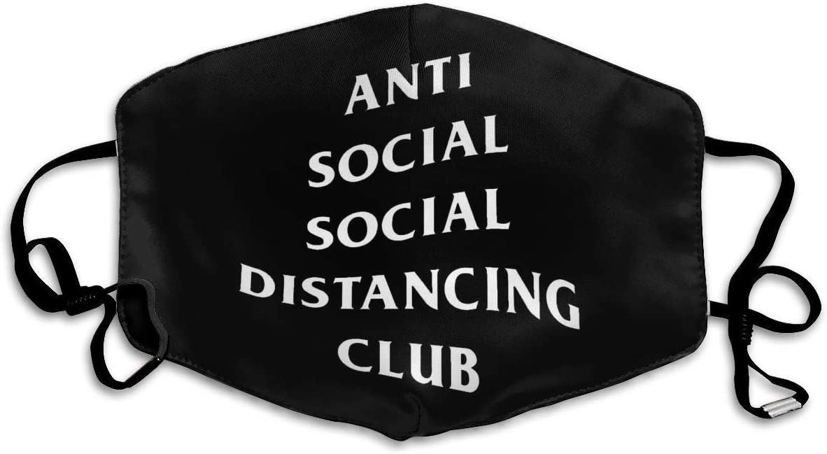 Olive Croft Gesichtsschutz Mundschutz Anti Social Social Distancing Club Mund Schal Wiederverwendbarer Bandana mit 2 Filtern