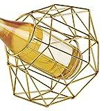 Wild Eye Designs Diamond Wine Bottle Holder, Gold
