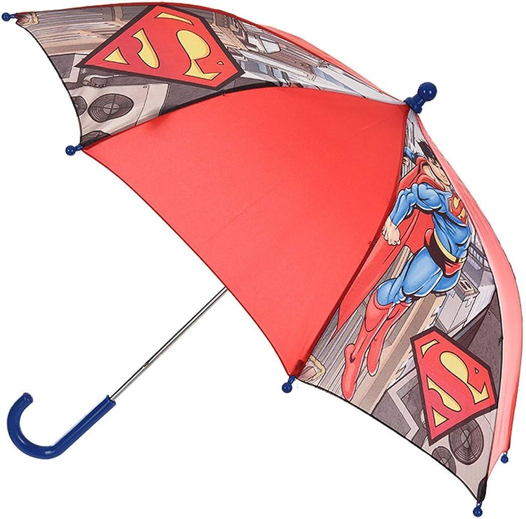 Parapluie enfant gar/çon Superman Rouge diam/ètre 65cm