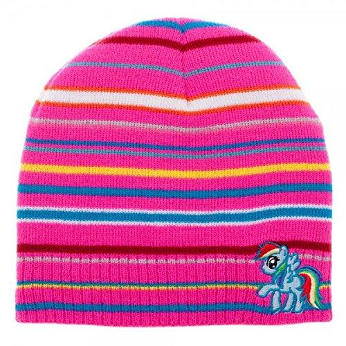 Amazoncom My Little Pony Rainbow Dash Striped Slouch Beanie Clothing