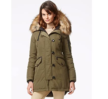 Michael Michael Kors Faux Fur-trimmed Hooded Parka- Olive at ...