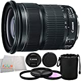 Canon EF 24-105mm f/3.5-5.6 IS STM Lens + Manufacturer Accessories + 3PC Multi-Coated Filter Kit (UV+CPL+FLD) + Neoprene Lens Pouch + Microfiber Cleaning Cloth - International Version (No Warranty)