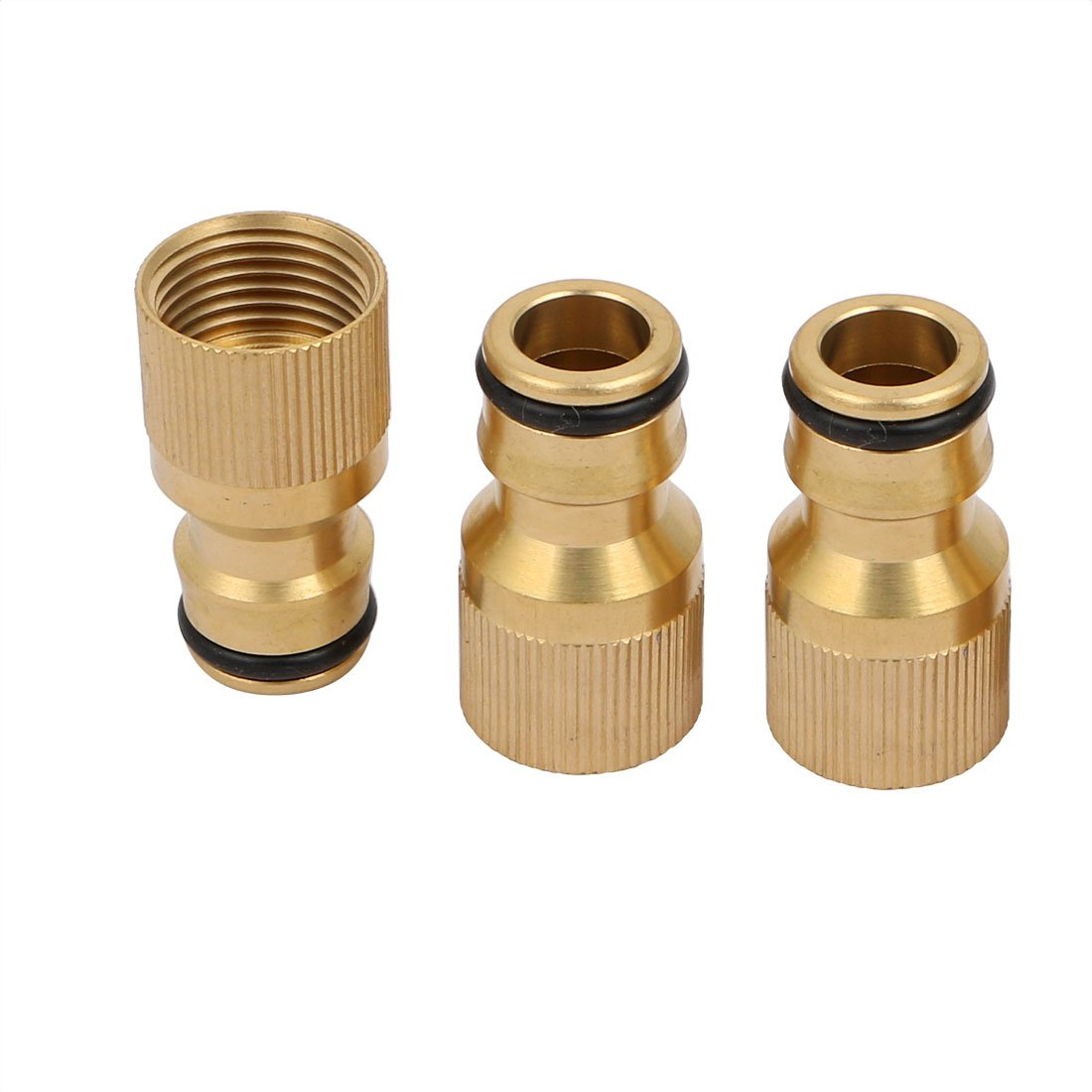 sourcingmap 3pcs M18x1.5mm Female Thread Faucet Water Hose Pipe Switch Connector Tap Fitting a17072200ux0160