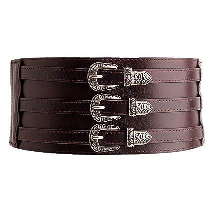 Wagyunfei Cinturones elásticos Vestido de cinturón de Cuero elástico Extra  Ancho Joker para Mujer Cómodo Invisible 97203e5e0067