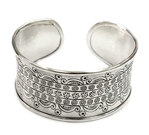 Wide Silver Bracelet Simple silver Bracelet Sterling Silver Cuff Bracelet Sterling Silver Bangle Classic traditional silver bracelet