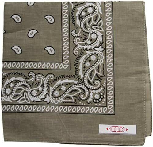 Soophen One Dozen Cowboy Bandanas 100% Cotton 22 x 22 inch