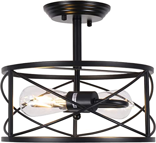 HMVPL Semi Flush Mount Ceiling Light Fixture