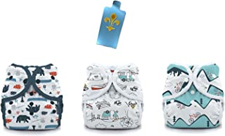 product image for Thirsties Duo Wrap Snaps Diaper Covers 3 pack Combo: Adventure, Happy Camper, Mountain BikeSz 2