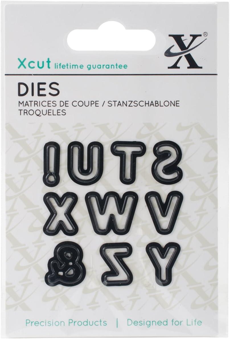 3 Docrafts Xcu503627 Xcut Mini Decorative Die-alphas Pt Die Alphabet