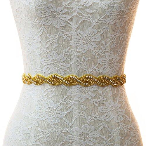 embroidered belts for wedding dresses - 8
