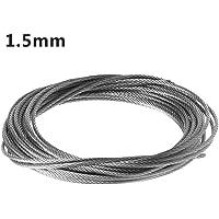 JOYKK 5m 304 Cuerda de Alambre de Acero