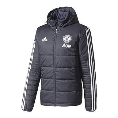 f5350dd301cc ADIDAS . Men Football Manchester United Winter Jacket Night Grey White  BS4370 RRP £119.95  Amazon.co.uk  Clothing