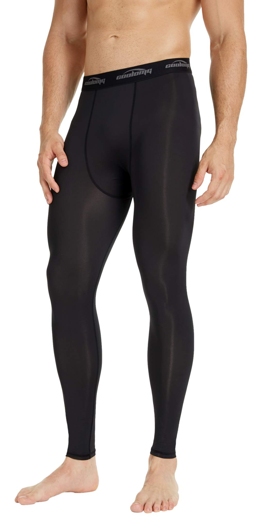 1341e3a16f28b COOLOMG Men's Compression Pants Running Sports Tights Leggings 20  Color/Patterns