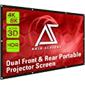 "Akia Screens 120"" Indoor Outdoor Collapsible Portable Projector Screen"