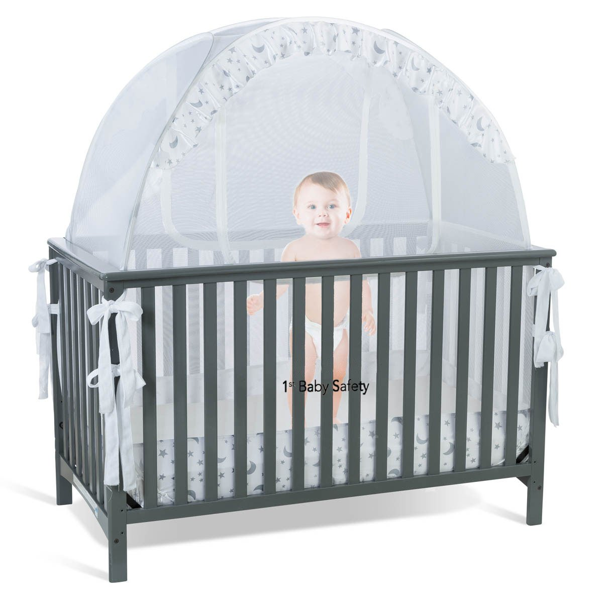Baby cribs amazon - Amazon Com Baby Crib Tent Safety Net Pop Up Canopy Cover Never Recalled Baby