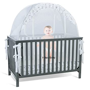 baby crib tent safety net pop up canopy cover never recalled - Gray Baby Cribs