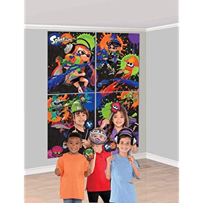 Amscan Splatoon Scene Setter Wall Decoration with Photo Props (1): Toys & Games