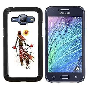 """Be-Star Único Patrón Plástico Duro Fundas Cover Cubre Hard Case Cover Para Samsung Galaxy J1 / J100 ( Modelo tribal africana Hombre Arte Bufanda Sun"""" )"""