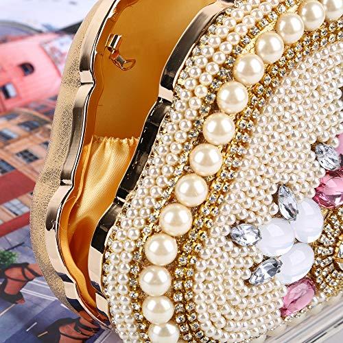 Diamante 5cm 8 Perla Novia Cena Bolso Embrague Bandolera Incrustaciones 12 Nupcial Vestido Plateado Oro Imitación 18 Hoqtum De A Noche YgUUaw
